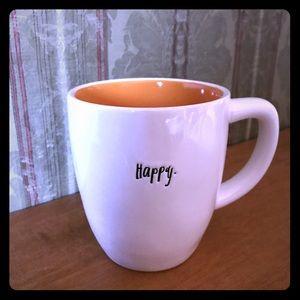 Rae Dunn HAPPY Script Mug